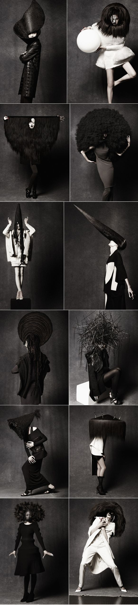 Hairstylist Peter Gray collaborates with Masa Honda. Photographed by Takahiro Ogawa.