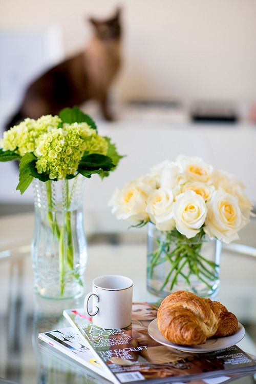 Imagem de flowers, breakfast, and coffee