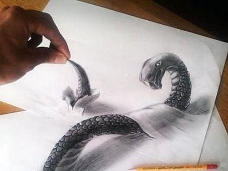 Aprende a dibujar en 3D sobre papel con este truco