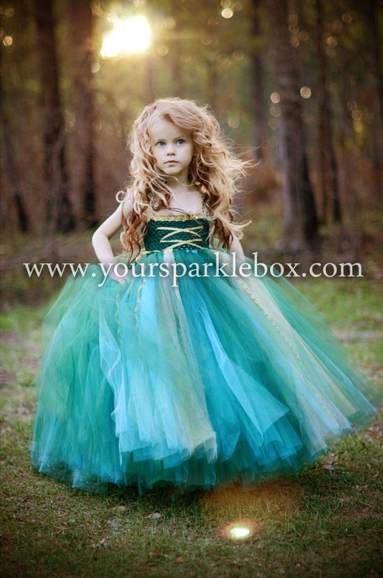 Merida Tutu Dress Costume by YourSparkleBox - maybe Emma needs to be Merida for Halloween?
