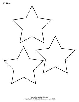 Star template 4 (four) inch