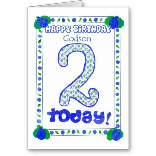 2nd Birthday Card For A Godson