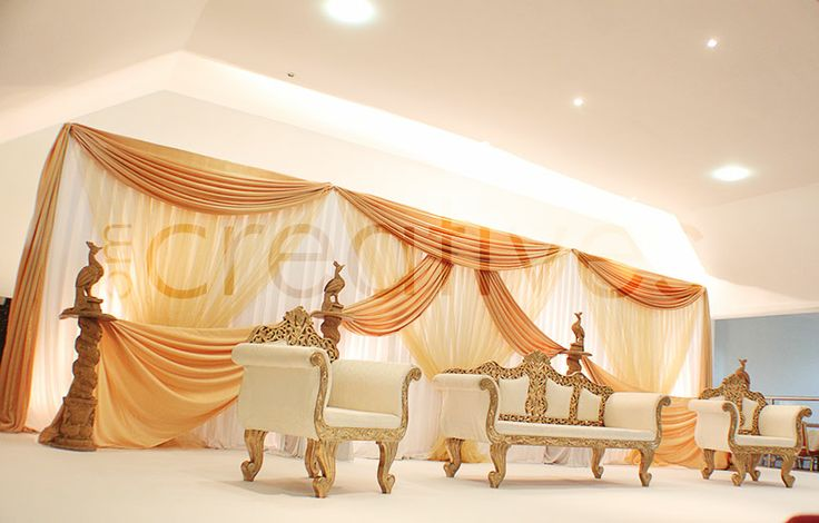 Portfolio of asian wedding stages in london om creatives for Asian wedding stage decoration manchester