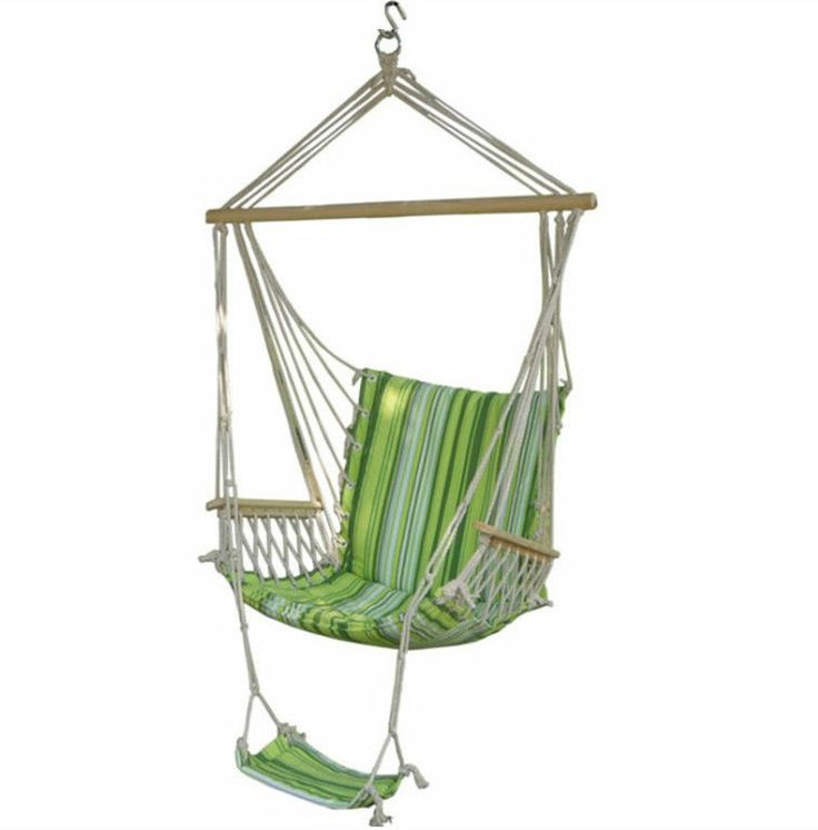 Hammock armrest swing chair camping garden outdoor hanging seat canvas cushion swing chairs - Choosing a hammock chair for your backyard ...