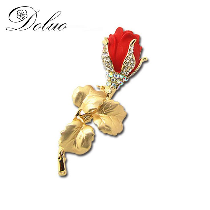 Cheap crystal brooch, Buy Quality brooch fashion directly from China fashion brooch Suppliers: Alloy Gold Plating Rose Brooch Fashion Sweater Accessories Alloy Crystal Crystal Brooch