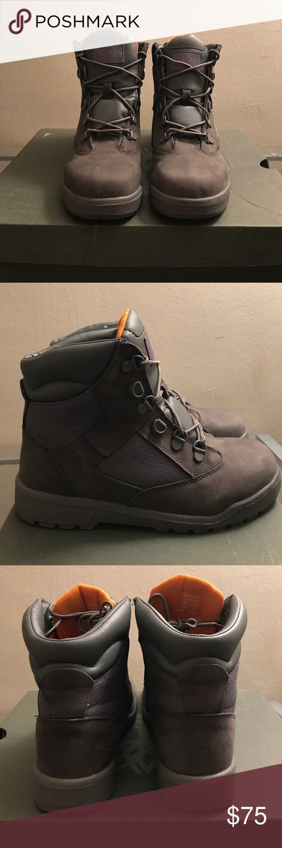 SALE! Timberland Field boots  size 7.5 6in L/F Timberland Field boots grey box included worn 1x. Equivalent to a women's size 7 1/2. (  size 5.5  big kids) Timberland Shoes Lace Up Boots