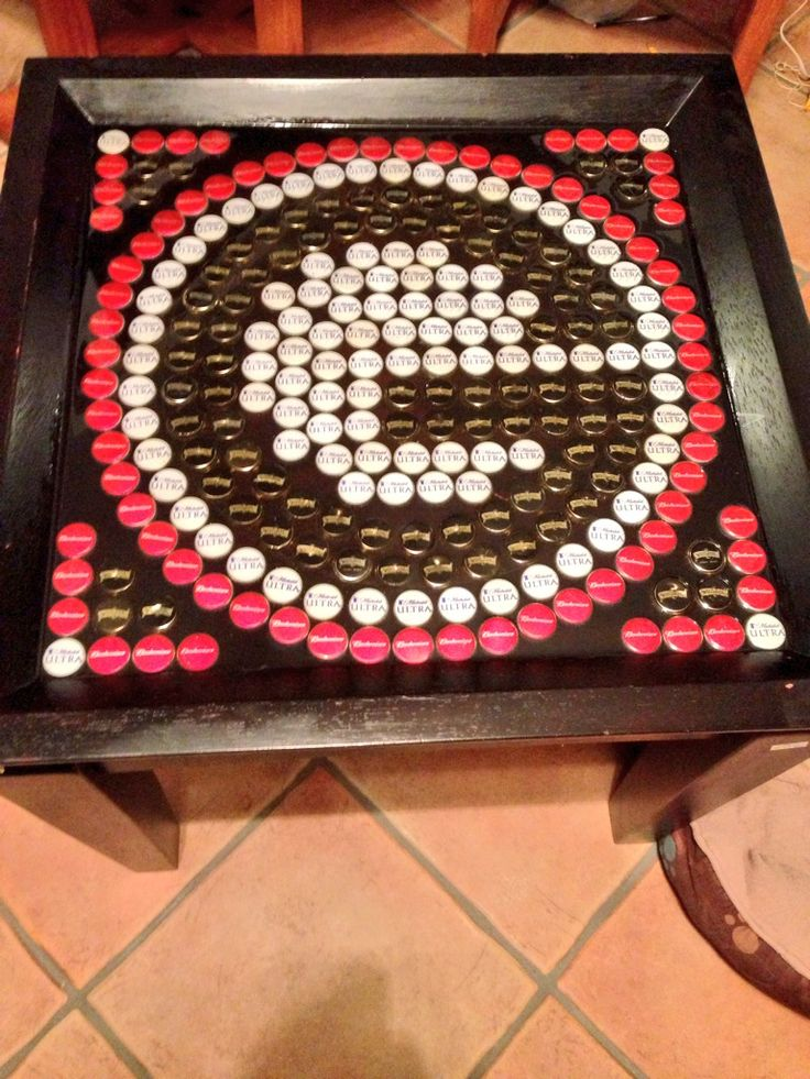 17 best ideas about bottle cap table on pinterest bottle for What can you make with bottle caps