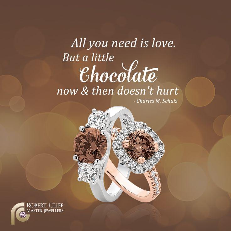 Busy day!! Nothing #chocolate can't fix!   #ChocolateDiamonds #Diamonds #Argyle  #stunningdiamond #engagementring #weddings #jewellerydesign #jewellery #Quote #jewelry #motto