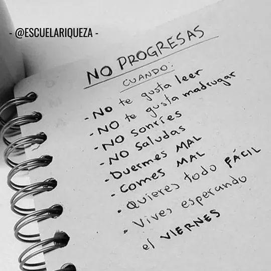 No progresas.