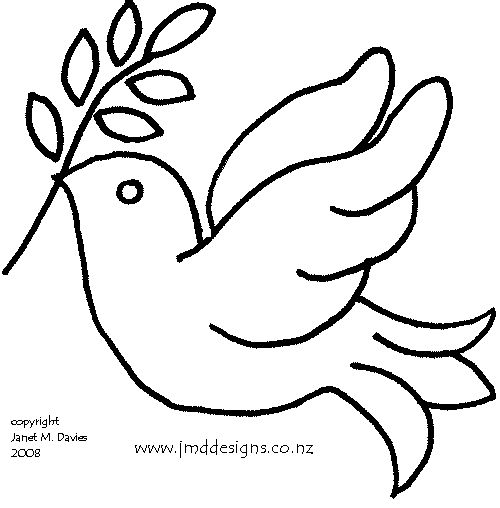 Dove pattern click on the dove design to enlarge for Turtle dove template