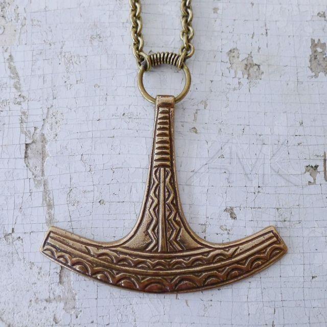 Ukon vasara, pronssi. Ukko's hammer, pendant by Kalevala Koru.