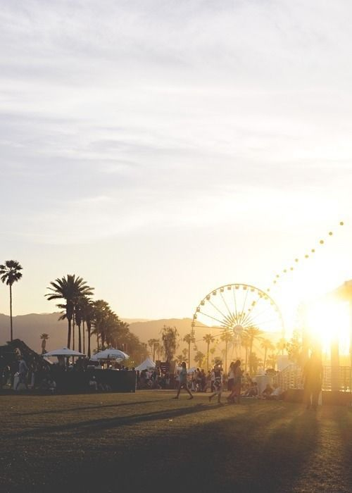 Take us to sunsets under the Coachella ferris wheel.