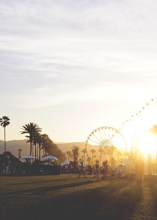 Take us to sunsets under the Coachella ferris wheel.
