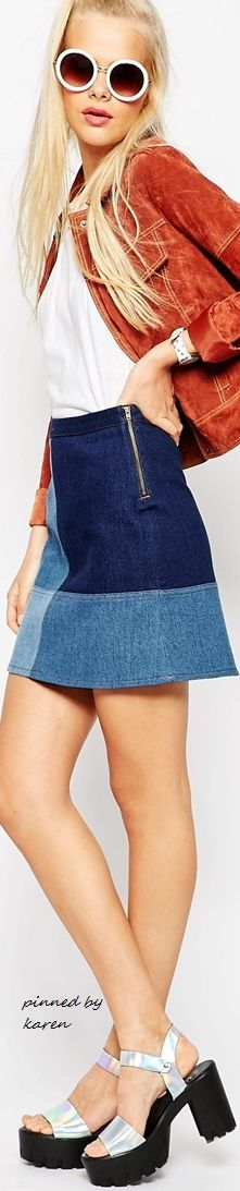 ASOS Denim Mini