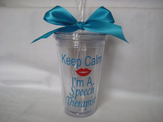 Speech Therapist Tumbler, Teacher gift, Speech teacher gift, Teacher appreciation, Speech therapist gift