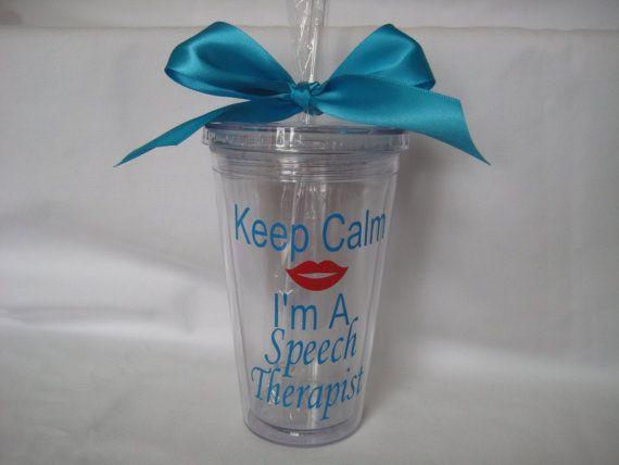 Speech Therapist Tumbler, Teacher gift, Speech teacher gift, Teacher appreciation, Speech therapist gift