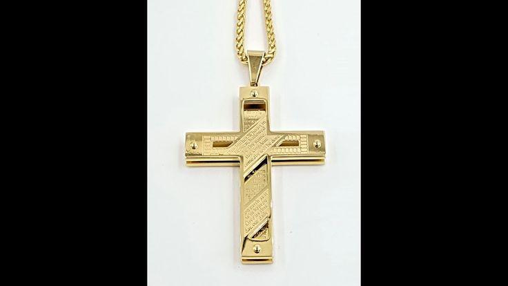 Kreuz Kette mit Bibelvers Gelb Gold vergoldet  https://rwa-schmuck.de/products/kreuz-kette-mit-bibelvers-gelbgold-vergoldet  #kreuz #kreuzanhänger #kettemitkreuz #kreuzhalskette #kreuzkette #kreuzschmuck