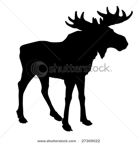 Moose pattern to cut out on constrction paper for decor.