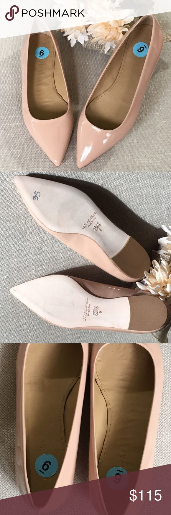 UGG Collection Vero Cuoio Tan Patent Flats