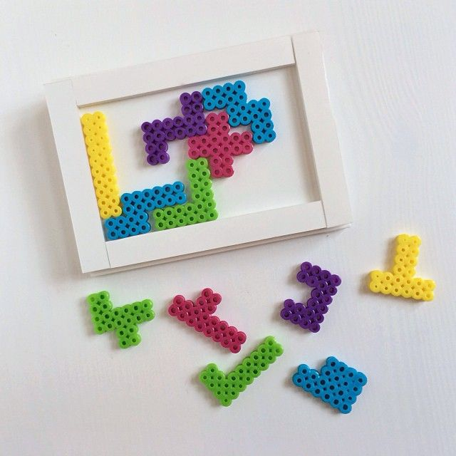 Fun and functional pentominoes puzzle perler beads by Rachel Swartley