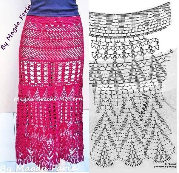 1246 best Crochet, knitted skirts images on Pinterest | Knitted ...