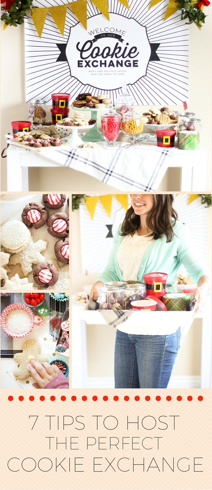 Hosting parties at Christmas time can be stressful, but a cookie exchange party is meant to be as fun and easy as it is delicious. Use our 7 tips to make hosting and decorating for your Christmas Cookie Exchange party a breeze.