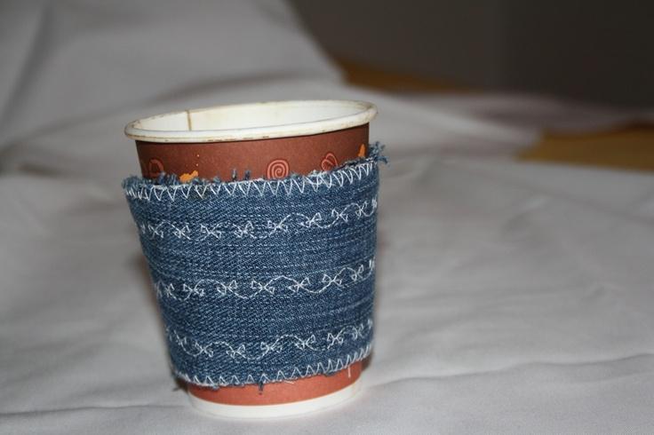 Hitzeschutz für Kaffebecher aus Stoff