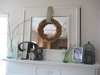 Fireplace Mantel Decorating Ideas For Your Home With Everyday Items You Can Find At The Thrift Riches To Rags By Dori Pinterest