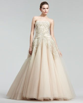 Embroidered Princess Gown - Neiman Marcus