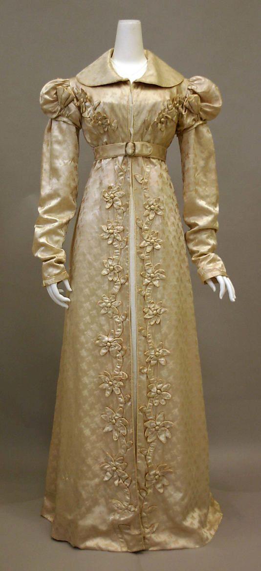 Redingote, French, 1818-1820