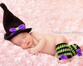 Sombrero de bruja de recién nacidos por MelsDesignBoutique en Etsy