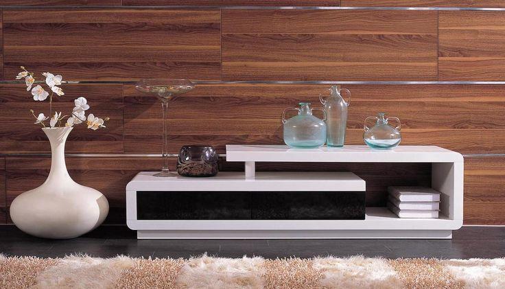 Stylish Design Furniture - D3033 - Modern White and Black TV Unit, $330.00 (http://www.stylishdesignfurniture.com/products/d3033-modern-white-and-black-tv-unit.html)