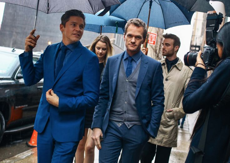 David Burtka and Neil Patrick Harris in Tommy Hilfiger Spotted at New York Fashion Week Photo by Phil Oh