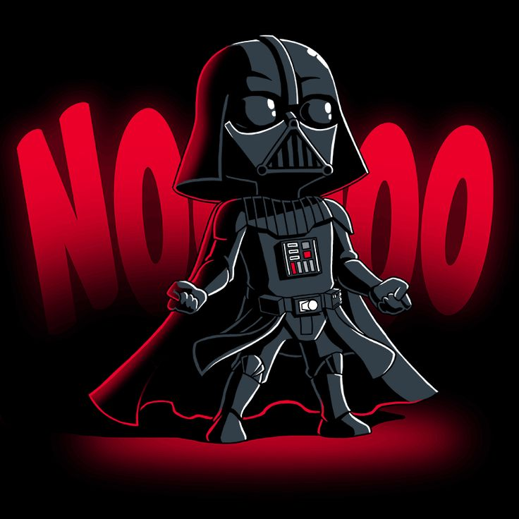 NOOOOO - This official Star Wars t-shirt featuring Darth Vader is only available at TeeTurtle!
