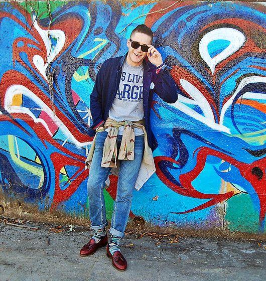 Jus Liv T Shirt, Grayers Jacket, Mfw Shirt, Zak Jeans, Rock My Socks Socks, Allen Edmond Shoes #fashion #mensfashion #menswear #mensstyle #streetstyle #style #outfit #ootd