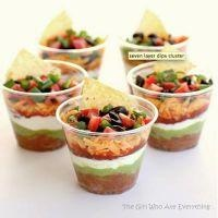 Individual Seven-Layer  Dip Cups.