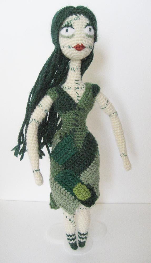 Just in time to add some scares this Halloween, here's a very frightening Patch Doll! She's a rather tall girl, a whopping 12 inches in her tiny green shoes and socks when made with 4-ply wool and 2.5mm hook. But if you use a bigger hook size she can get even taller!This pattern uses tables for all parts, with added diagrams and pictures to help along the way. There are also step by step photos detailing how to begin crochet, assemble the parts and finish the embroidery. You will most...