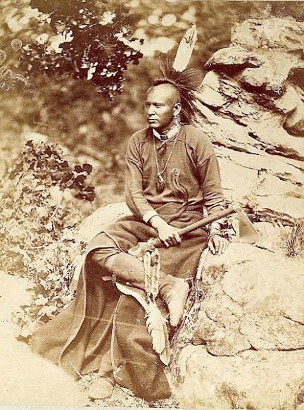 Native American Encyclopedia Osage man – 1875