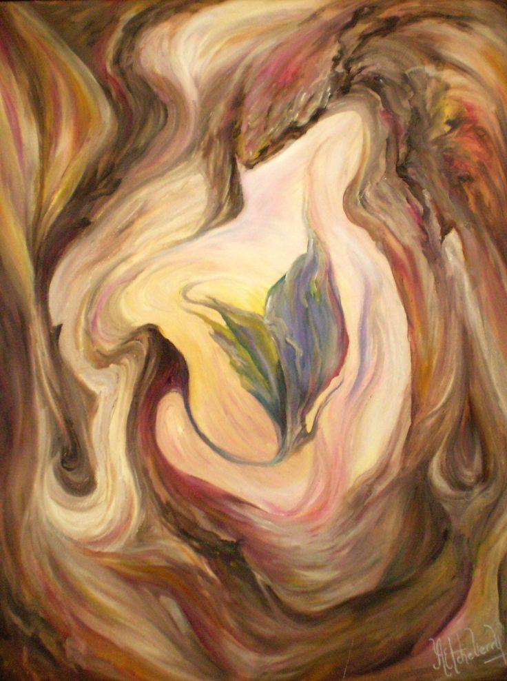Título: Nacimiento del Alma - Oleo (80 X 60 cm) - San Luis - Argentina - Alejandra Etcheverry