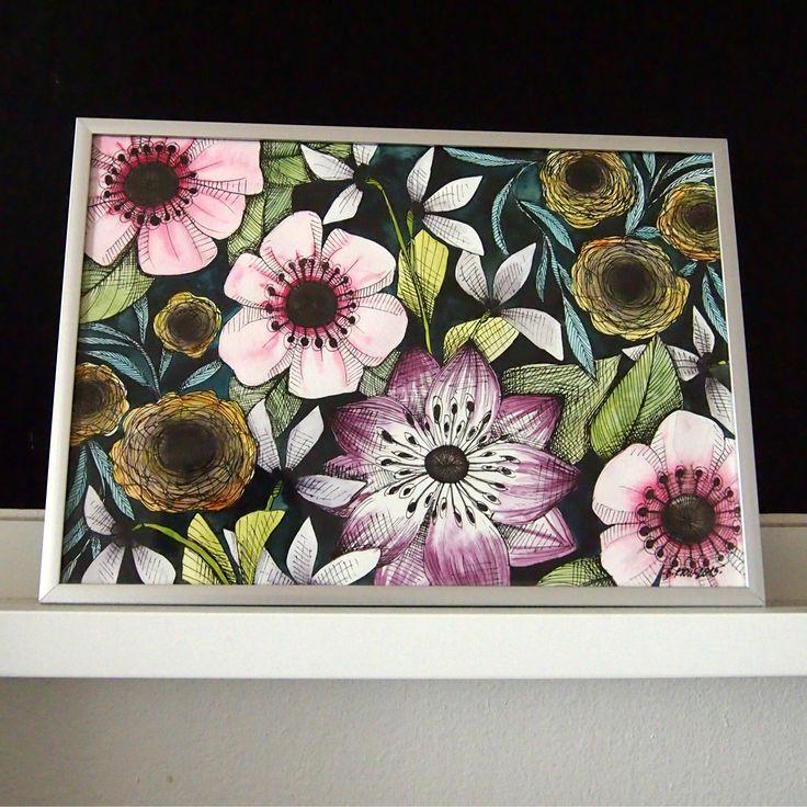 květinový vzor | Ateliér B. KIOW