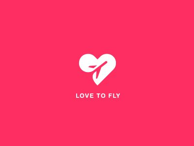 Love to fly logo concept by Popa Ion