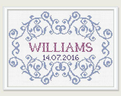 Wedding Cross Stitch Pattern Bridal Cross by PatternsTemplates