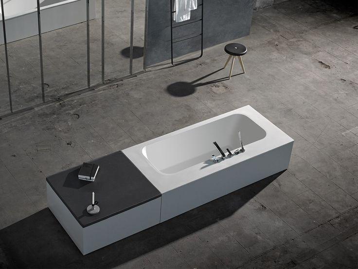 Téléchargez le catalogue et demandez les prix de Ka | baignoire ilôt By inbani, baignoire en solid surface® design Francesc Rifé, Collection ka