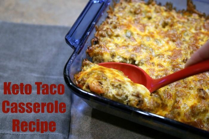 Keto Taco Casserole Recipe LCHF - Only 3 carbs and 37 grams of FAT! You don't want to miss this one. It's perfect for your game day parties.   ketosizeme.com