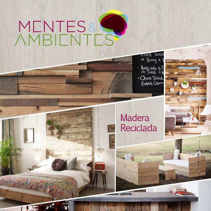 Reutiliza, crea e inventa una nueva forma de darle calidez a tus espacios con tablones de madera.  Visita nuestro blog #MentesYAmbientes e inspírate con nuevas ideas http://bit.ly/1mtcrQP