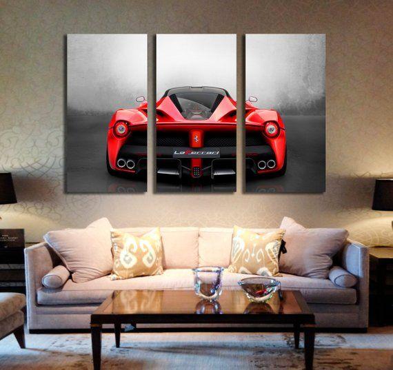Supercar La Ferrari Canvas Print Laferrari Wall Art Sport Car Poster Print Framed Artwork On Canvas Wall Hanging Canvas Print Ferrari Exviver Hanging Canvas Sports Wall Art Canvas Prints