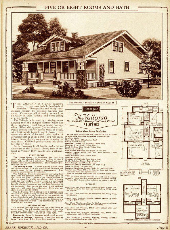 The Vallonia House Plans Sears Roebuck Co Ideal House