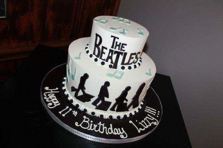 Tiered Beatles cake