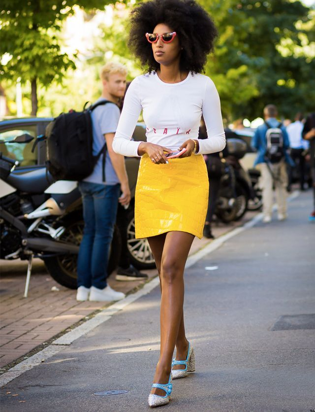 best t-shirt brands: Julia Sarr Jamois wearing a vintage white tee from Alaia