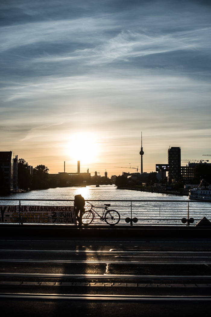 From Oberbaum Brücke one late evening... with the Berlin TV Tower in the back. Photo: Martin Kaufmann